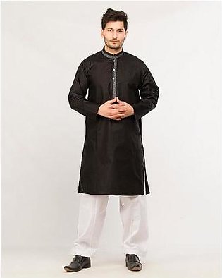 Hyperzone Cotton Finish Kurta For Men HYP-233 Black