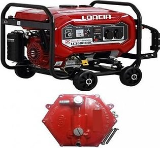 LONCIN 2.5 KW Petrol & Gas Generator with Gas Kit LC3600DDC Red