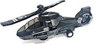 3D Lights Swat Helicopter DYD168A-1 Black