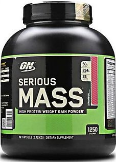 Optimum Nutrition Serious Mass Strawberry Flavour 6 lbs