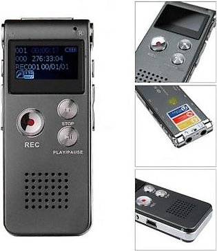 Remax 8Gb Voice Recorder Digital Voice Recorder Time Display Mp3 Player Grey