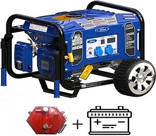 Ford 3.5 KW Petrol & Gas Generator with Battery & Gas Kit FG4050PE Blue