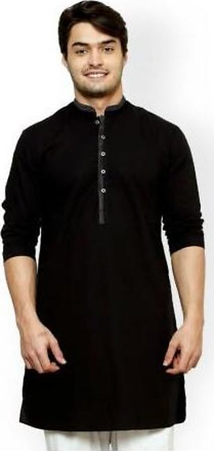 Hyperzone Cotton Kurta For Men HYP-121 Black