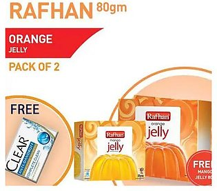 Buy 1 Pack of 2 Rafhan Orange Jelly 80 gm and get free sachet with Free Rafhan …