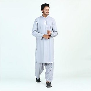 Oxford Cotton Plain Kurta Shalwar for Men OX45 Grey