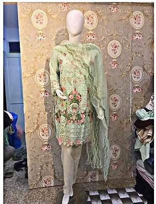 Sphiro Pret 2 Pcs Embroidered Shirt with Dupatta For Women SP-217 Pista Green