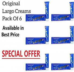 Pack of 6 - Largo King Size Cream