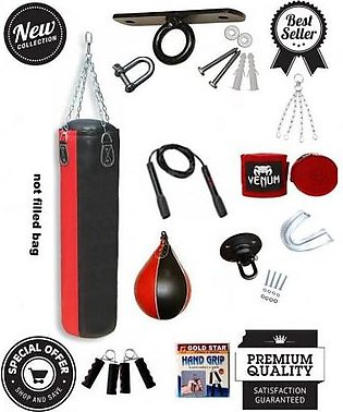 MULTIPLE BRANDS Punching Bag With Speed Ball and Mouth Guard - Multi Color