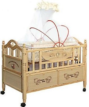 Mama & Baby Wooden Cot For Baby 6316 Brown