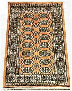 Oriental Carpet Gallery 3 x 4 Ft Hand-Knotted Rug Gold