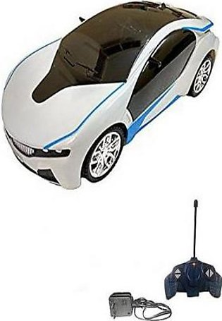 3D Led Chargeable Remote Control Car White