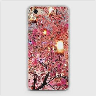 Skinlee Vivo Y81I Cover Hybrid Case Soft Pink Blossoms Lanterns Multicolor