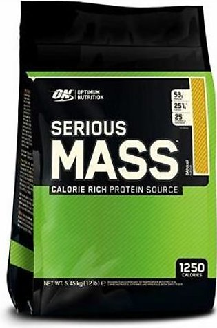 Optimum Nutrition Serious Mass Banana Flavour 12 lbs