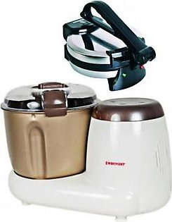 Westpoint Wf-3614 Deluxe Dough Maker With Wf-6513 Deluxe Roti Maker 8 Inch Black