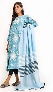 Ego In The Wind 2 Pcs Kurta & Dupatta E03520 Sea Blue