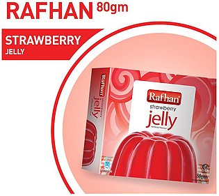 Buy 1 Rafhan Stawberry Jelly 80 gm and get free sachet