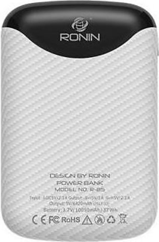 Ronin 10050 mAh Smallest Power Bank R- 85 White