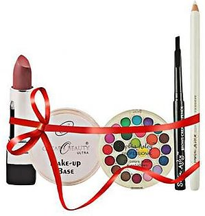Sophia Asley Deal Of Eye Shade Kit + Lipstick + Makeup Base Fair + Express Pencil White + Brow Creator Black