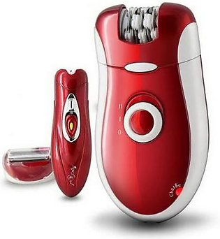 Kemei Km-3068 3 In 1 Epilator And Shaver For Women Red