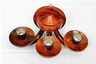 Wooden Hanging Candle Decoration Piece ED-100 Brown