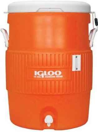 Igloo 10 Gallon Dispenser Water Cooler with Cup 42021 orange