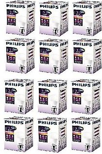 Philips Pack Of 12 Ess LED Bulb 12W E27 Warm PL-053 White