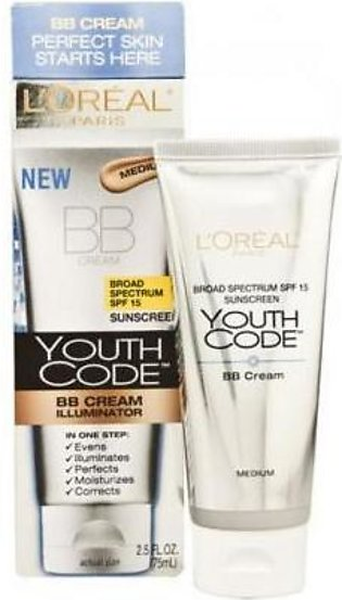 L'Oreal New BB Cream Illuminator Youth Code 75 ml
