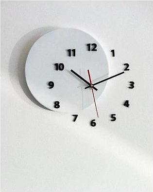 ProtonX Out Of Circle Wall Clock PX25 White