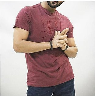 Red Tree T-Shirt for Men RT1586 Maroon