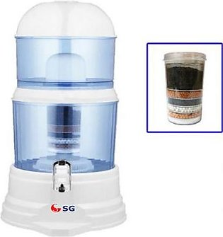 SG Doctor 15 Ltr Water Purifier Filter White & Blue