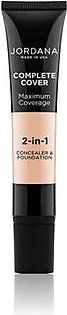 Jordana Complete Cover 2 in 1 Concealer & Foundation Creamy Natural