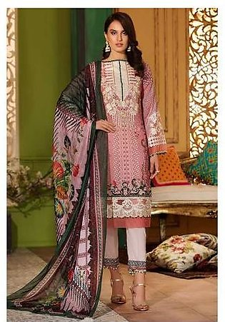 Sifona Aesthetic Japonica 4 Pcs Unstitched Embroidery Suit ACC-09 Pink