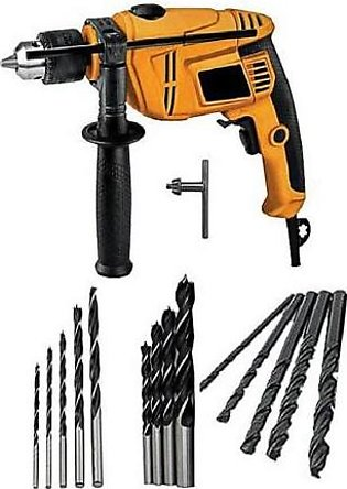 Pack of 15 Hd Drill Machine and 15 Pcs Drill Bot BSK-302 Multicolor