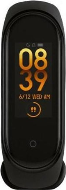 Mi Band 4 For Heart Rate Sleep Management Pedometer GM-008 Black