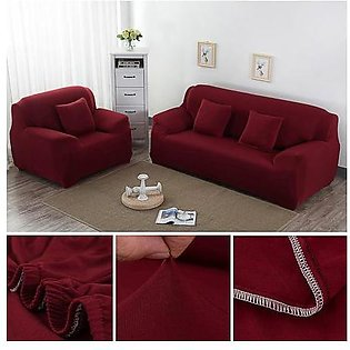 7 Seater Sofa Cover Maroon