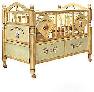 Mama & Baby Printed Wooden Cot For Baby 587-1 Brown