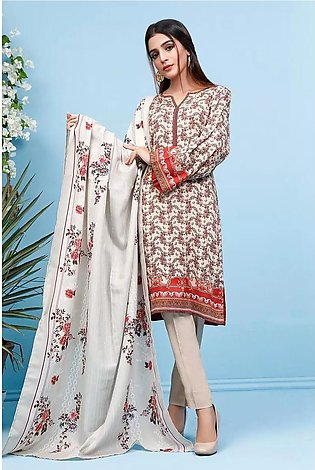 3 PC Unstitched Digital Printed Linen Suit with Shawl WNS-85 A