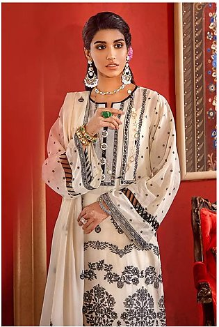 3 PC Embroidered-Suit with Lawn Dupatta FE-313