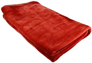 Treasure Solid Double Blanket (Red)