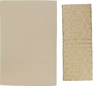 Floral Gold Shimmer Double Bed Sheets