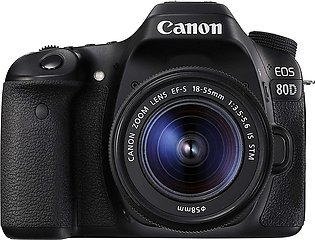 Canon 80D DSLR Camera With 18-55mm IS STM Lens