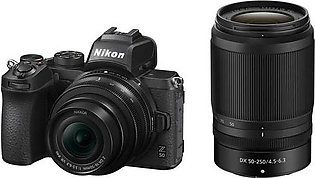 Nikon Z50 Mirrorless with 16-50mm and 50-250mm Lens