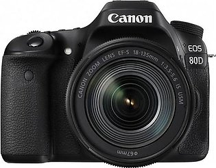 Canon 80D DSLR Camera with 18-135mm IS USM