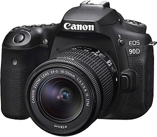 Canon 90D DSLR Camera with 18-55mm Lens