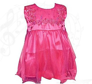 Fairy Frock Lace With Net Frill - Magenta