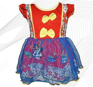 Minnie Mouse Printed Frock For Baby Girl  - Red