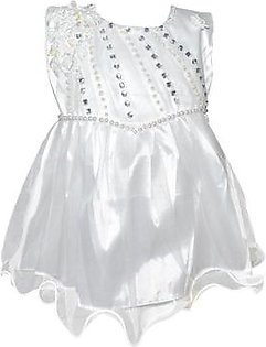 Fairy Frock Lace Bunch With Net Frill - White