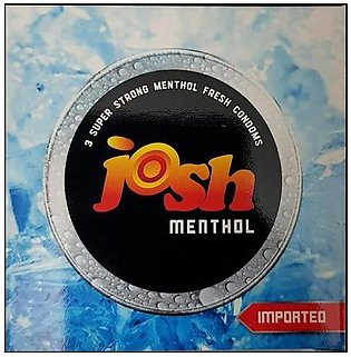 Josh Menthol Condoms - Pack of 3