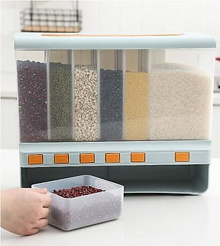 Cereal Dispenser with 6 Partitions -10KG