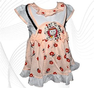 Doll Face Frock For Baby Girl - Peach